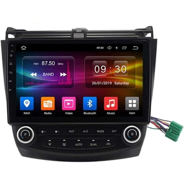 Autoradio Récepteur Multimédia Car Radio Voiture Stéréo 9 Pouces Autoradio Bluetooth pour Honda Accord 7 2005-2008 Main Libre[161]