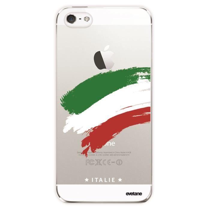 Coque iPhone SE / 5S / 5 rigide transparente Italie Ecriture Tendance et Design Evetane