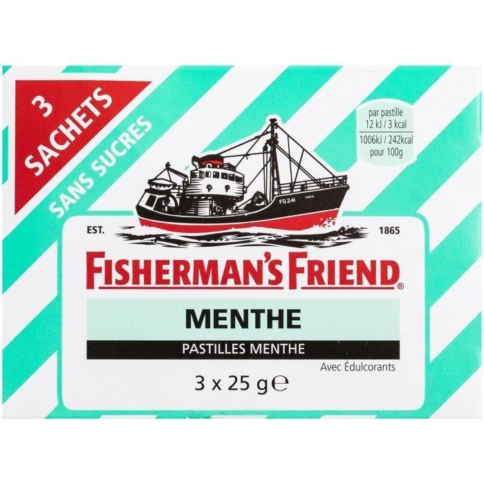 FISHERMAN'S FRIEND Pastille sans sucres - 3x 25g - Menthe