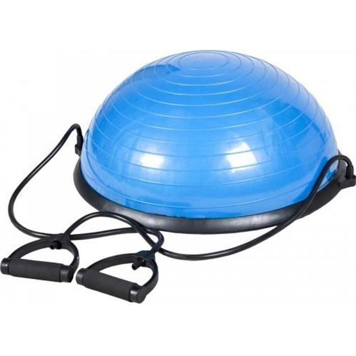 Balance trainer - planche d'équilibre pro - demi-ballon d'entraînement, avec poignées