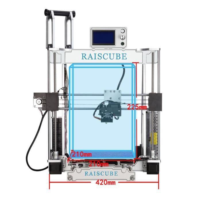 Taille d'impression de l'imprimante 3D de cadre d'alliage d'aluminium de la précision A8r 210 * 210 * 225mm