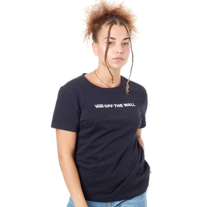 Tee shirt Femme Vans Brand Stripe Noir