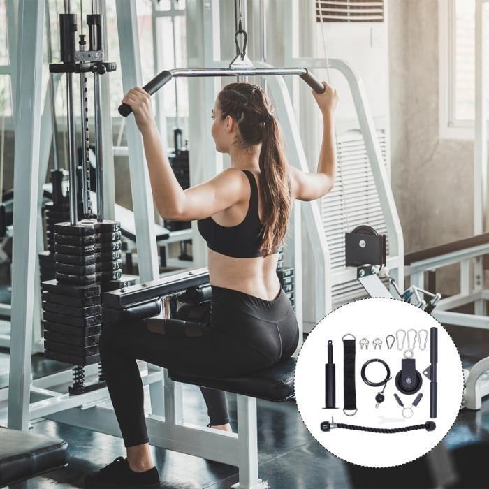 1 Set Machine de câble de poulie pratique durable pour les adultes femmes barre - haltere - poids fitness - musculation