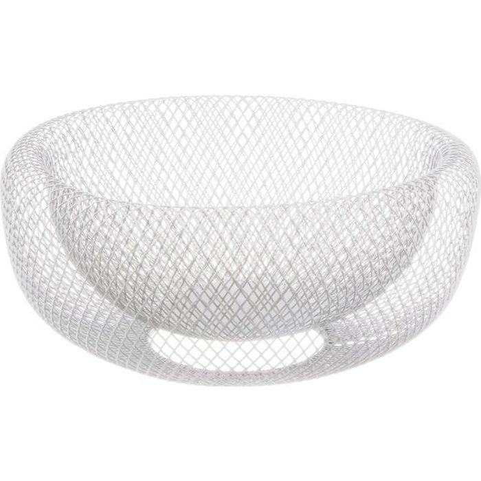 Corbeille à fruits design Mesh - Diam. 27 cm - Blanc