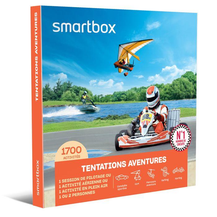 SMARTBOX - Coffret Cadeau - TENTATIONS AVENTURE - 1600 activités : conduite sportive, vol en ULM, kayak et bien d'autres