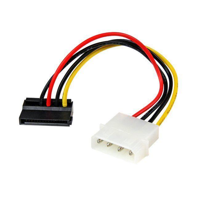 Startech.Com Adaptateur de câble d'alimentation Lp4 vers Sata à angle gauche 4 broches 15 cm Adaptateur secteur