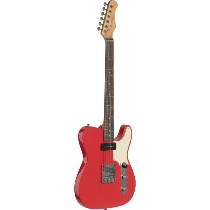 STAGG SET-CST FRD Guitare Electrique Vintage - Rouge