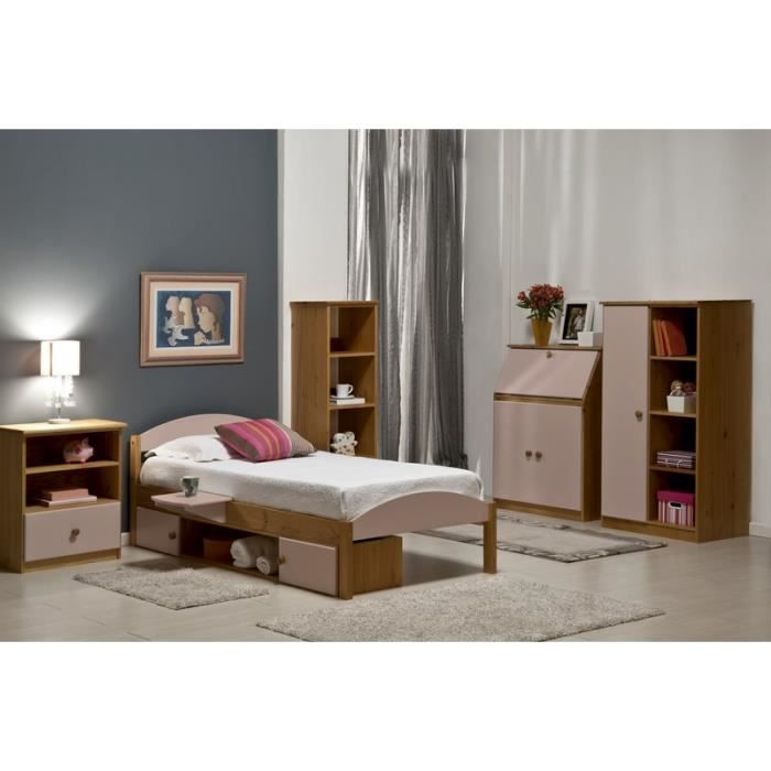 Chambre compl te rose petite f e meuble house achat for Meuble chambre complete