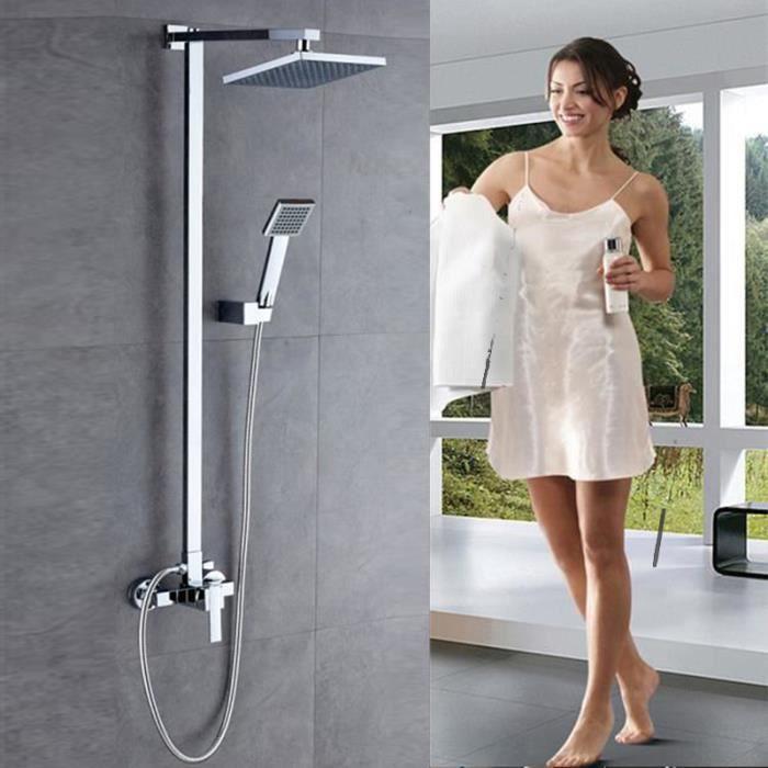 Suguword Ensemble de douche en laiton avec pommeau de douche de douche et pommeau de douche style vintage
