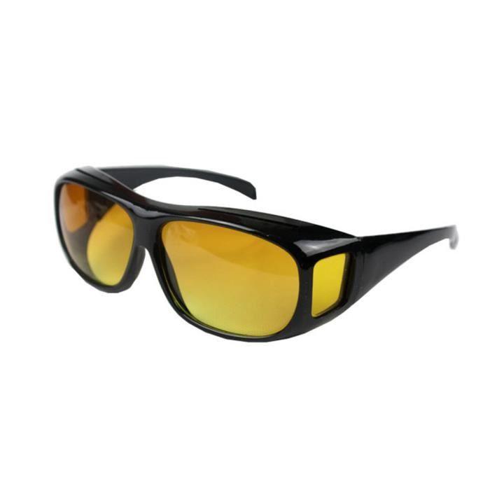 LUNETTES DE SOLEIL Yellow Lunettes de vision nocturne HD sur Wrap aut
