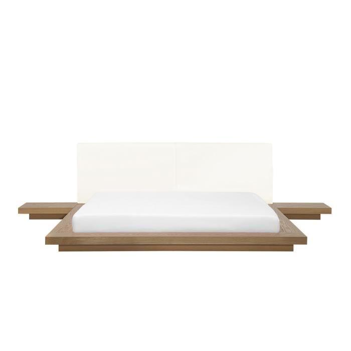 Lit à eau japonais marron 180x200 cm Zen