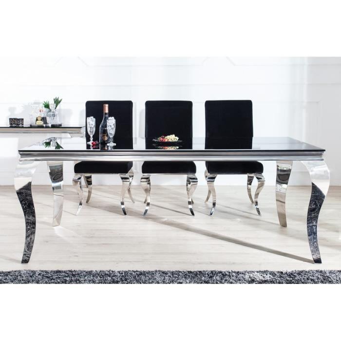 Table de Casa Set Dining Argent Padrino Noir Luxury F1c5TJluK3