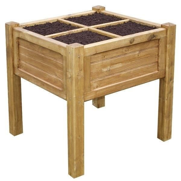potager c1010 carre 100x100 bois brut 4 parties achat. Black Bedroom Furniture Sets. Home Design Ideas