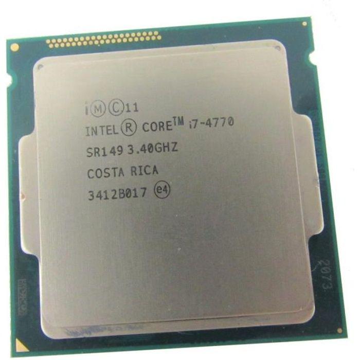 PROCESSEUR Processeur CPU Intel Core I7-4770 3.4Ghz 8Mo SR149