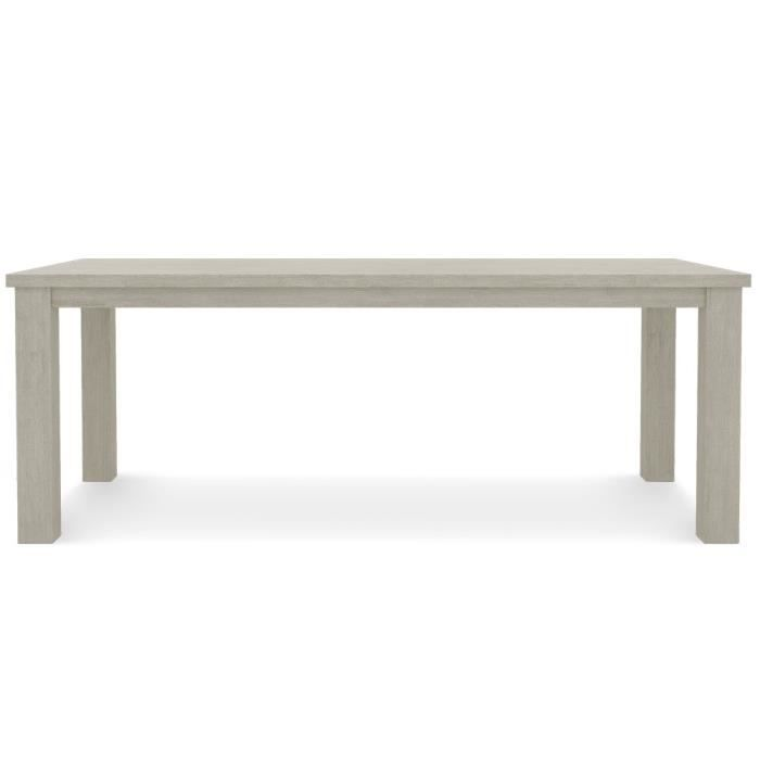 Table acacia bois taupe achat vente table a manger - Table a manger taupe ...