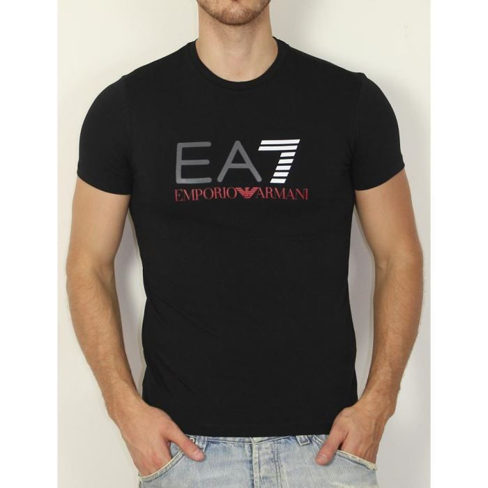 armani ea7 mens t shirt tee male models picture. Black Bedroom Furniture Sets. Home Design Ideas