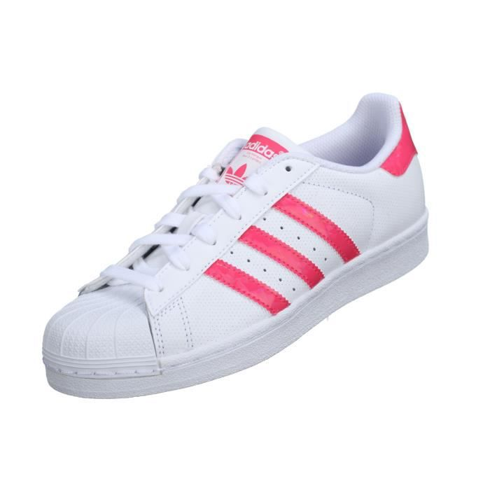 Basket Adidas Superstar J Db1210 Blanc / Rose