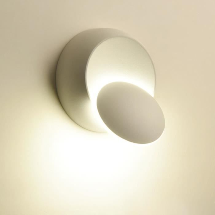 Lighting Applique Murale à Led Blanc Couleur Noir éclairage