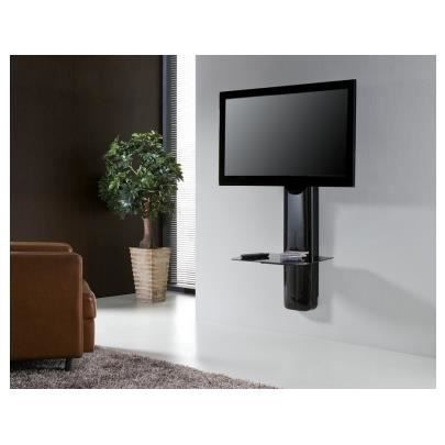 Support mural tv candela noir achat vente meuble tv - Support mural television ...