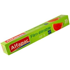 SAC DE CONSERVATION Recharge Film étirable 35m Alfapac -  lot de 2