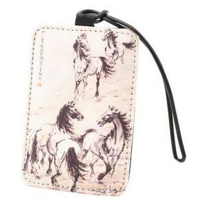 PORTE ADRESSE Étiquette de sac de bagage en soie de souvenir de