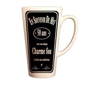 T-SHIRT Grand Mug souvenir de mes 50 ans  mug ceramique fê