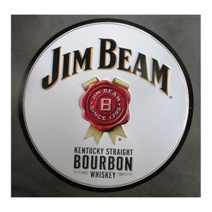 WHISKY BOURBON SCOTCH plaque bourbon jim beam whiskey whisky ronde 60cm