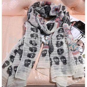 ECHARPE - FOULARD Foulard, écharpe imprimé Tête de mort, 180x90 cm,