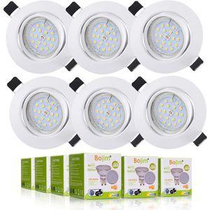 SPOTS - LIGNE DE SPOTS BOJIM Lot 6 Spots LED encastrables - Rond - GU10 -