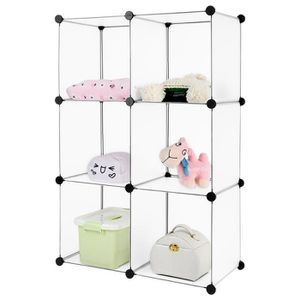 ARMOIRE DE CHAMBRE 6-Cube Armoire Langria Placard Garde-robe Etagère