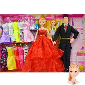 POUPÉE Poupée Barbie de Princesse Ensemble de Jouet Coffr