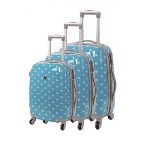 SET DE VALISES Set de 3 valises 4 roues original sydney bleu