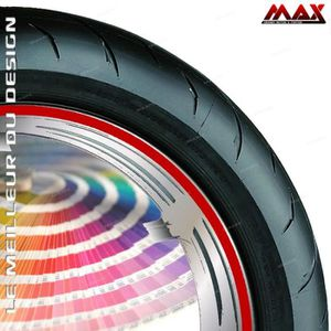 GT-Stickers KIT Liserets de Jante Moto Kawasaki,Yamaha,Honda,Suzuki,Ducati, KTM et Toutes Les Autres Bleu Clair Liseret Autocollant Compatible avec Les Jantes de Ces Marque