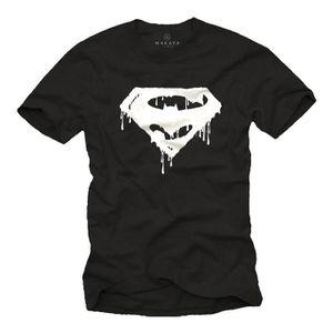 T-SHIRT Super Heros Tee Shirt SUPERBAT Superman & Batman F