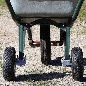 BROUETTE Lot de 2 adaptateurs de roues pour brouette