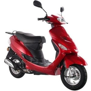 SCOOTER Scooter Euro4 Urban Star 4T - 50 cc - Rouge bordea