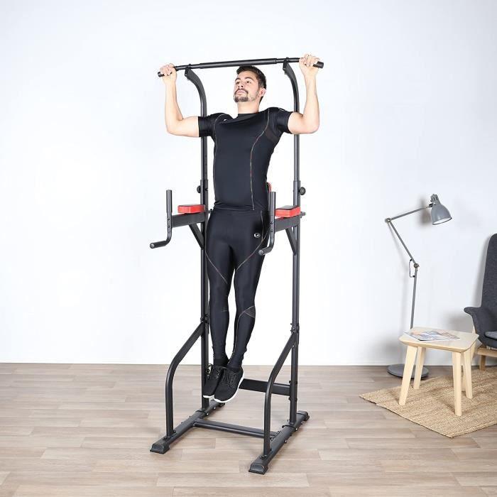 Fitness Barre de traction Hauteur Réglable station de traction musculation Dips station