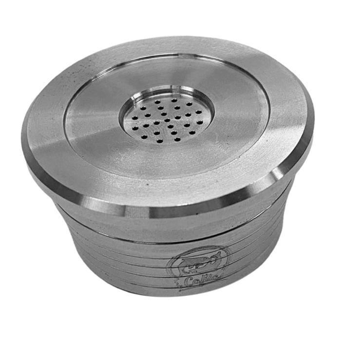 Capsules De Café Filtre Réutilisable Avec Brosse Et Cuillère Pour DELTA Q Silver