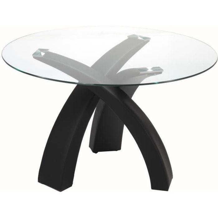 Table à manger ronde en verre WENDY