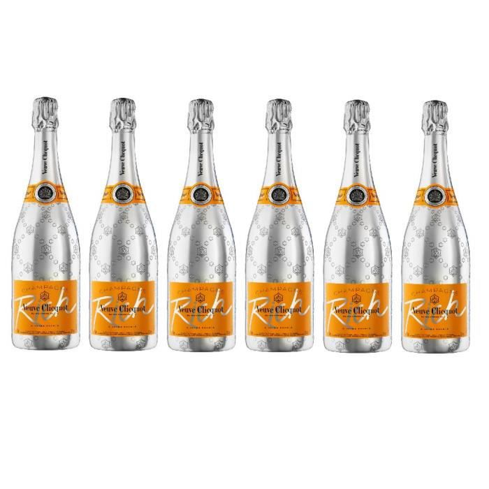 Lot de 6 Champagnes Veuve Clicquot Rich 75cL