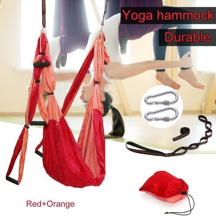 Hamac De Yoga Aérien Kits Balançoire De Yoga Exercices Inversés ROUGE