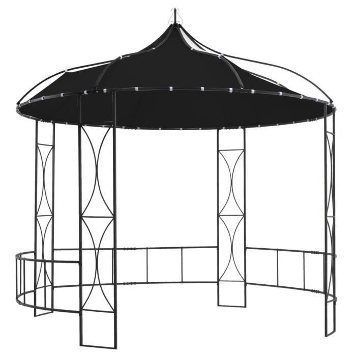 Tonnelle de Jardin Barnum - Belvédère 300 x 290 cm Anthracite Rond