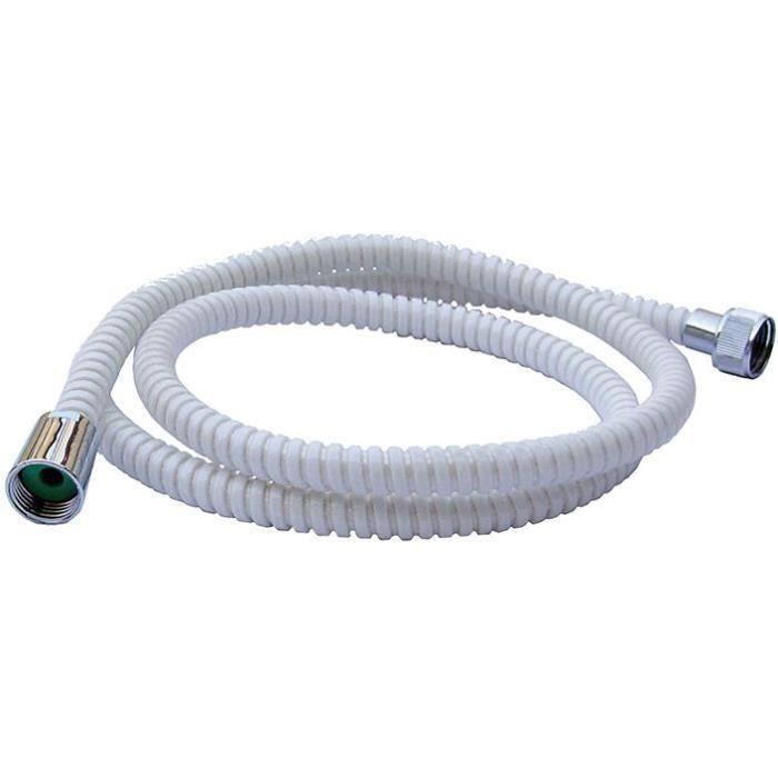 Flexible de douche Espiroflex PVC 1.75m - blanc, argent