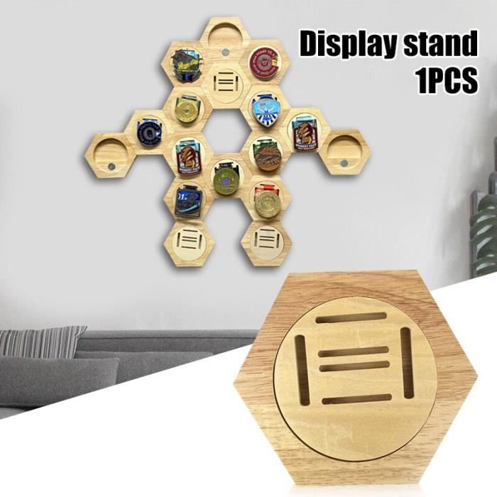 Porte médailles en bois Hexagonal combinaison de médailles présentoir de décoration pour la maison s objet decoratif YFGJ454