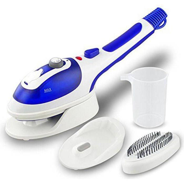 Défroisseur à Main Professionel Fer à Repasser à Vapeur Portable Vertical Steamer Vapeur Machine de Désinfection (Bleu)