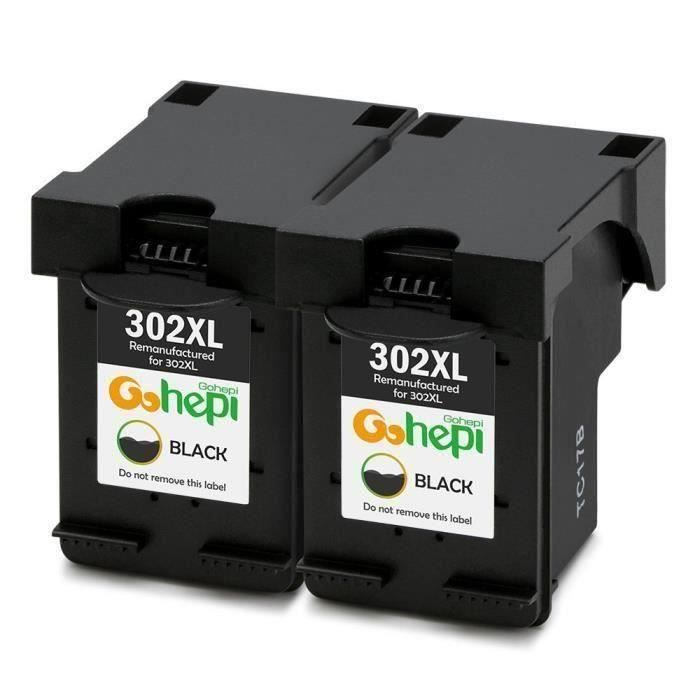 Cartouches HP Envy 4523 - Compatible avec HP 302 XL Noir