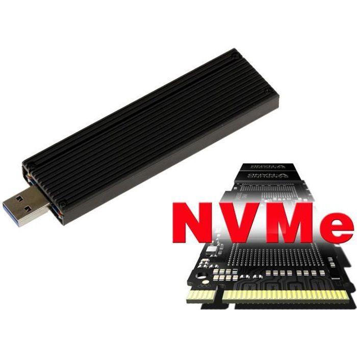 Clé boitier Usb 3.0 Pour Ssd M.2 Ngff Pcie Nvme Type Pcie uniquement, M2 B+M ou M Key