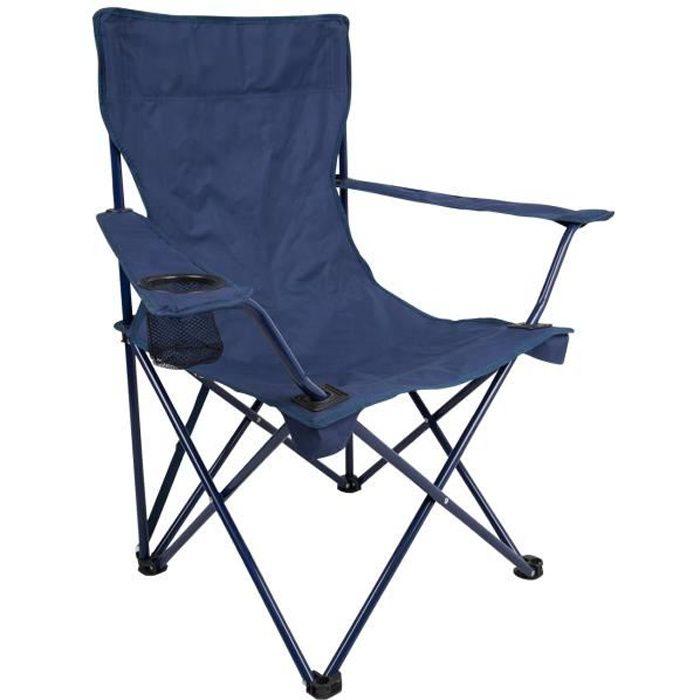 Chaise Fauteuil Extérieur Pliable Inclinable Confort Jardin Camping Voyage Acier