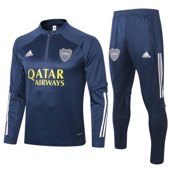Survêtements Boca Juniors 2021 Adidas Maillot Homme Enfants Maillot de Football Nouveau - Bleu