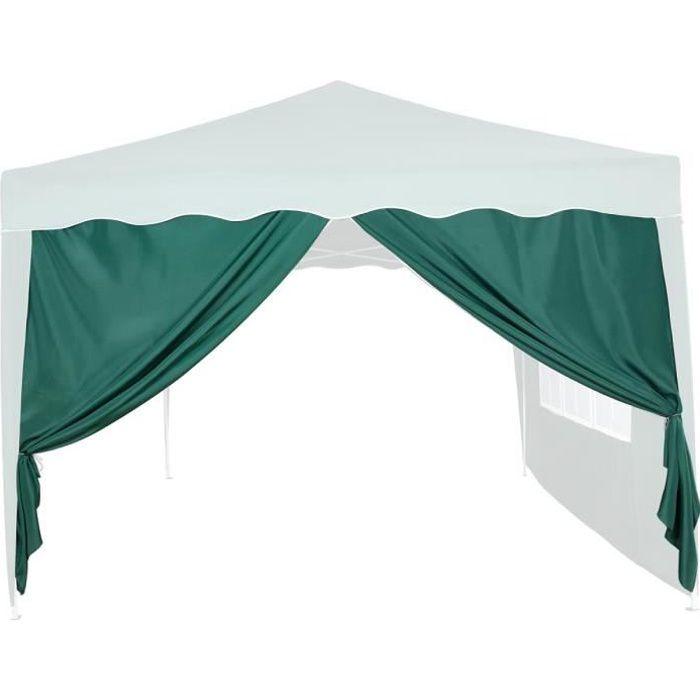 INSTENT panneau latéral vert avec fermeture à glissière, sans fenêtre